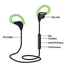 Спортивные Bluetooth наушники BTZ1 со встроенным микрофоном для занятия спортом (Черные), фото 3