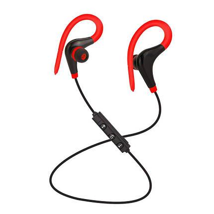 Спортивные Bluetooth наушники BTZ1 со встроенным микрофоном для занятия спортом (Красные), фото 2