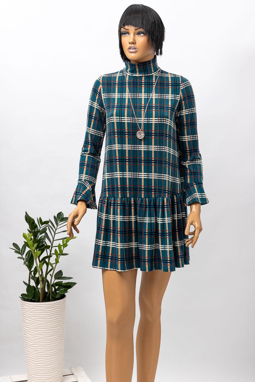 Платье женское LUMINA 6995 PETROL CHECK