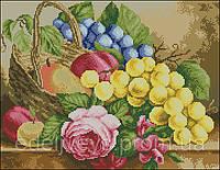 Виноград с розой С-309 .Схема для вышивки бисером.