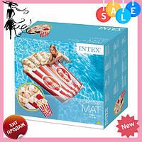 Пляжный надувной матрас - плот 58779SH INTEX «Попкорн», 178-124 см   плотик
