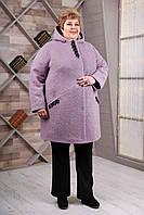 Пальто женское демисезонное большой размер В-1087 Aрт.1606 Тон 46 | 66, 68, 70, 72, 74, 76р.