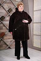 Пальто женское демисезонное большой размер В-1087 Kelly-PL Тон 4| 64, 70, 76р.