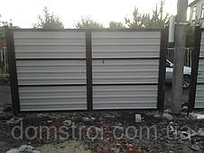 Ворота из профнастила 3 м., фото 3