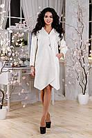 Пальто женское демисезонное, цвет белый В-1115 Boland Тон 5 | 50-52р.