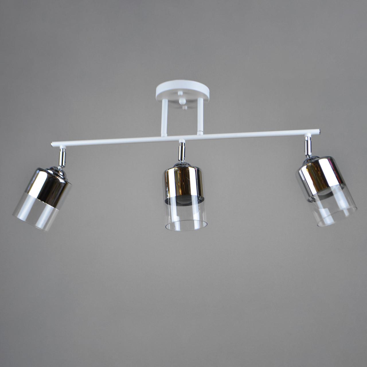 Люстра потолочная на три лампы 29-K076/3 CR+WT+WT