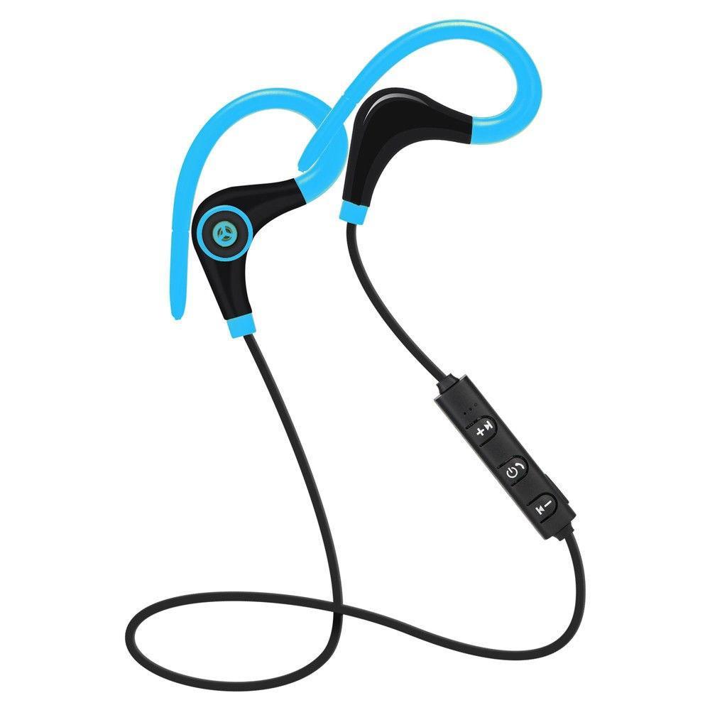 Спортивные Bluetooth наушники BTZ1 со встроенным микрофоном для занятия спортом (Синие)