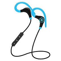 Спортивные Bluetooth наушники BTZ1 со встроенным микрофоном для занятия спортом (Синие), фото 2