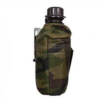 Пластиковая фляга 1л в чехле MilTec Woodland 14505020, фото 2