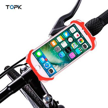 Универсальный вело держатель (холдер) Topk H03 для смартфона (Красный), фото 2