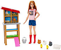 Набір Барбі куряча ферма Barbie Chicken Farmer Doll & Playset, фото 1