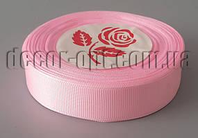 Лента репсовая розовая 2,0 см 25 ярд арт.004