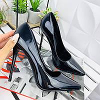 Туфли лодочки женские черные 38