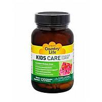 Комплекс витаминов для пищеварения детей KIDS CARE Country Life жевательные пастилки №120