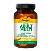 Мультивітаміни Adult Multi 60 таблеток жувальних ТМ Кантрі Лайф / Country Life