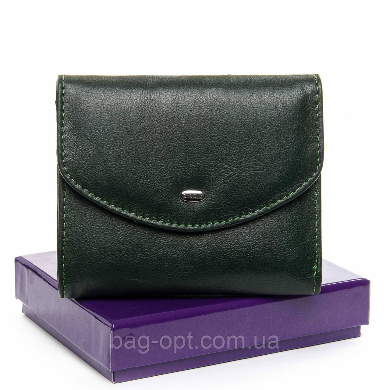 Женский кошелек кожаный Bond (12x10x2,5 см) зеленый