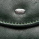 Женский кошелек кожаный Bond (12x10x2,5 см) зеленый, фото 3