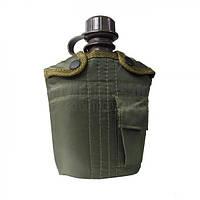 Пластиковая фляга 1л в чехле MilTec Olive 14505001