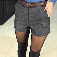 Шорты женские классические  чёрные, серые, бежевые, фото 1