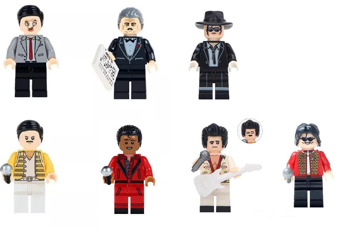 Фигурки Крестный отец Мистер Бин Queen Майкл Джексон Фредди Меркьюри лего Lego Элвис Пресли