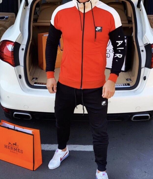 Костюм спортивный мужской из двунитки с карманами на молнии (К28723)