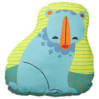 IKEA LATTJO (903.512.82) Подушка, медведь, сине-зеленый