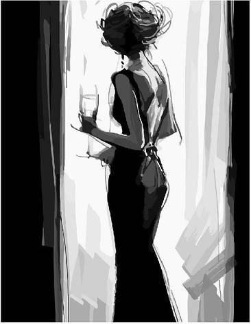 "Картина по номерам. Brushme ""Леди в черном"" GX3165, фото 2"
