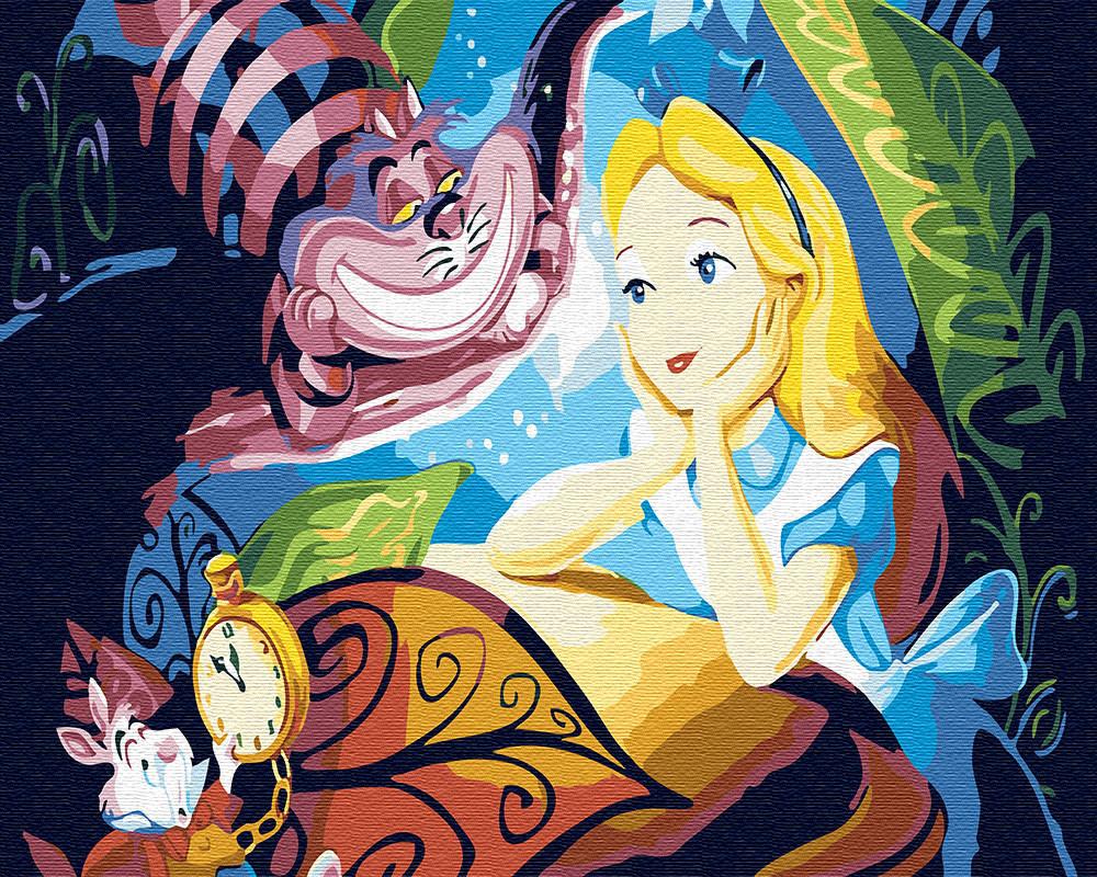 "Картина по номерам. Brushme ""Алиса и Чеширский Кот"" GX30456"