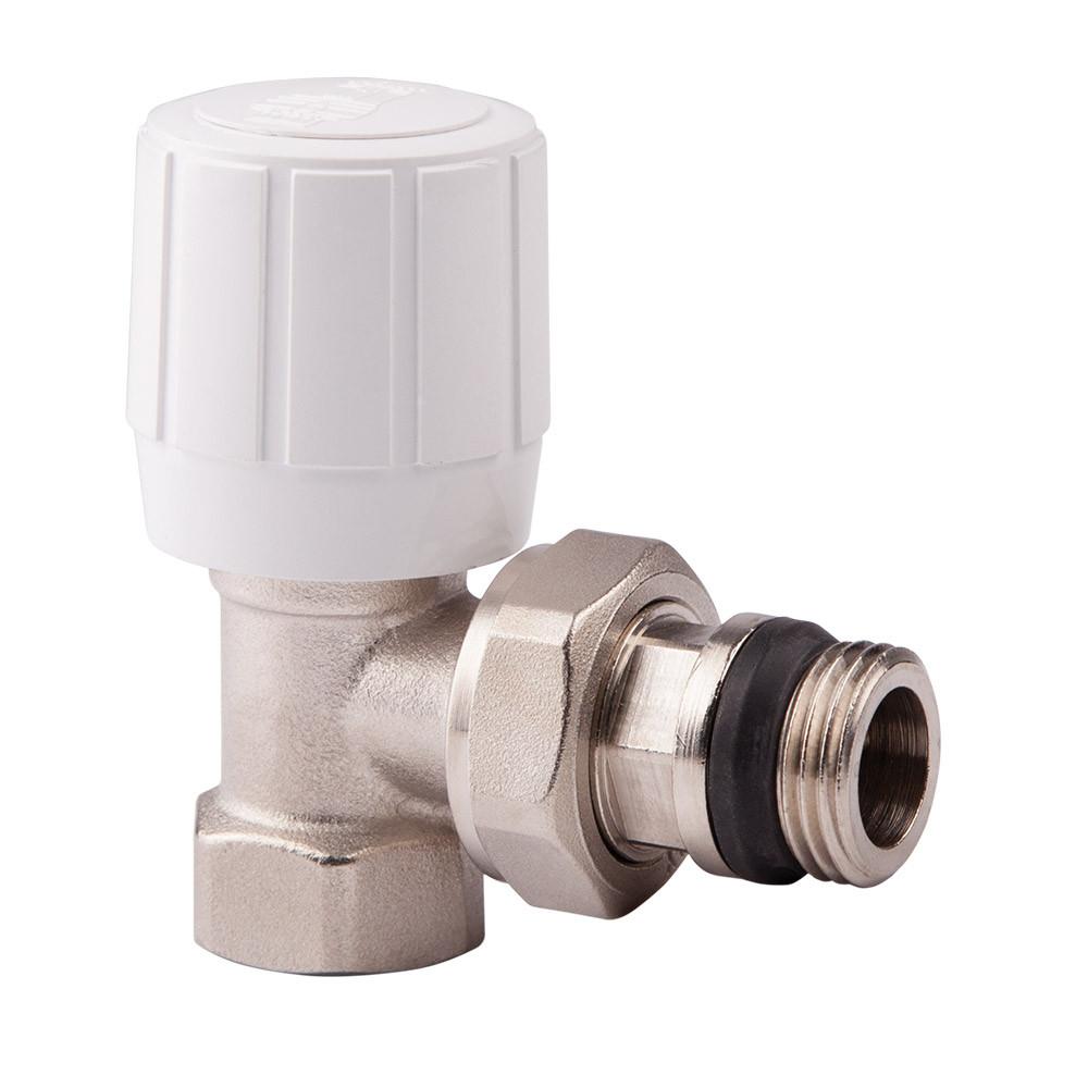Угловой терморегулирующий вентиль с ручным и термостатическим управлением 1/2 ICMA 974 (Италия)