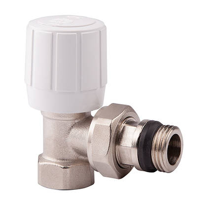 Угловой терморегулирующий вентиль с ручным и термостатическим управлением 1/2 ICMA 974 (Италия), фото 2