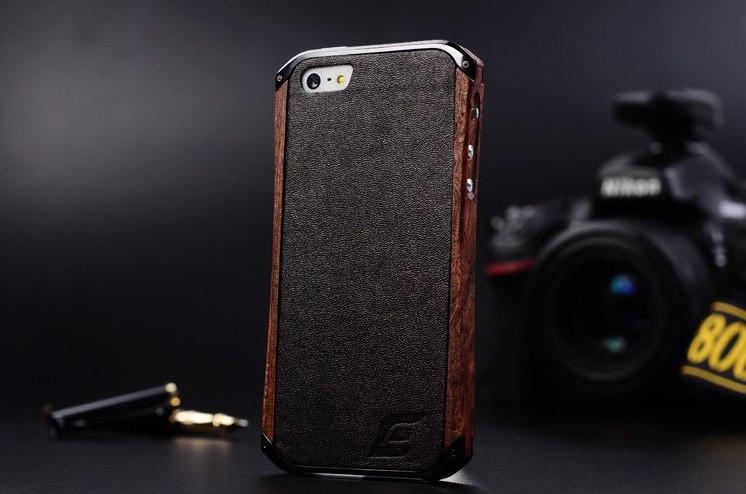Бампер для iPhone 5 5S Ronin Element Case (дерево и металл)