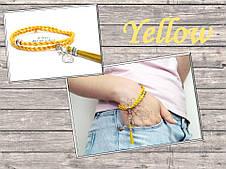 Браслет Желтый шелк, фото 2