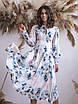 Платье миди пудра в цветочный принт, фото 4