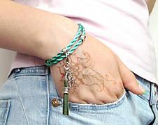 Браслет Зеленый шелк, фото 3