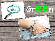 Браслет Зеленый шелк, фото 2