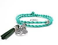 Браслет Зеленый шелк, фото 1