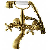 Смеситель для ванны WELLE AMALIA 27011T4HO бронза