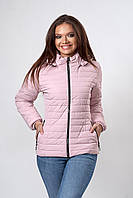 Женская демисезонная куртка. Код модели К-115-37-20. Цвет пудра.