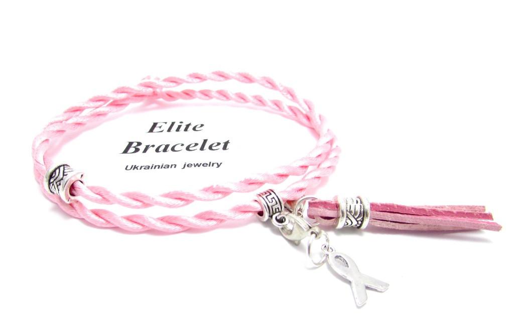 Браслет Розовый шелк