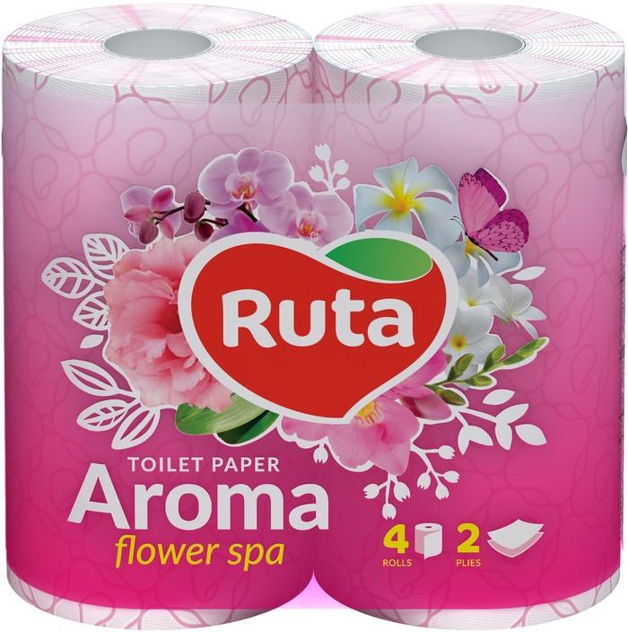 Туалетная бумага Ruta Aroma 4рул 2с розовая ароматизированная