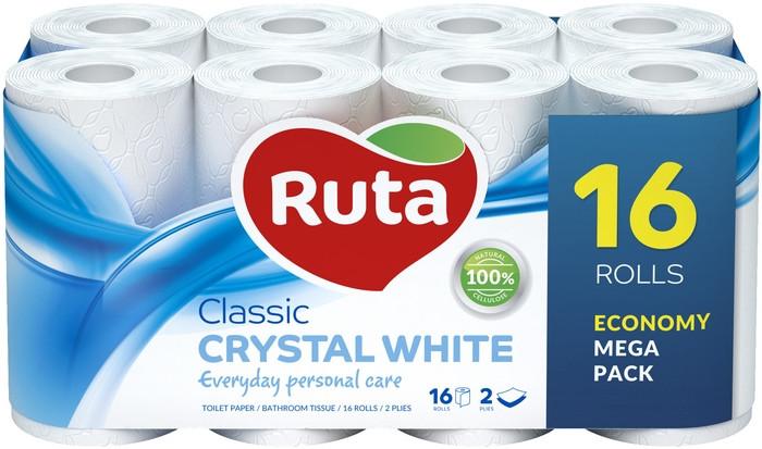 Туалетная бумага Ruta Classic 16рул 2с белая