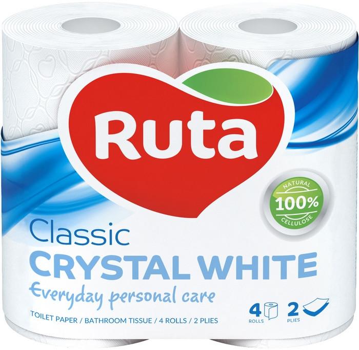 Туалетная бумага Ruta Classic 4рул 2с белая