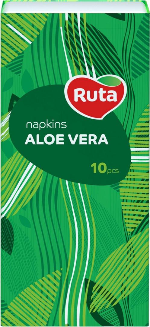 Носовые платочки Ruta  10х10, С ароматом алое, 3-слойные