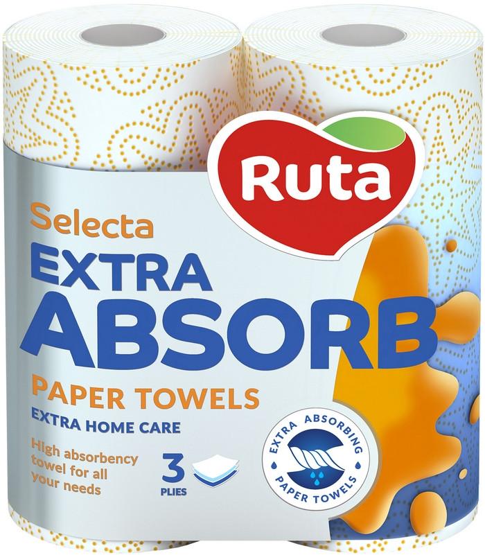 Полотенца бумажные Ruta Selecta 2рул, Белые, 3-слойные