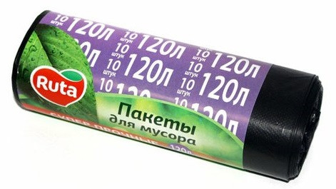 Пакеты для мусора Ruta 120л 10шт
