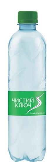 Вода Чистый ключ 0,5 слабогазированная