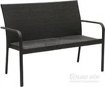 Диван садовый INDIGO HYC-005D 63х123 см черный