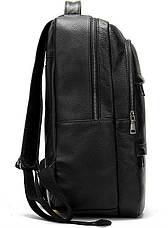 Рюкзак Vintage 14696 кожаный Черный, Черный, фото 3