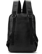 Рюкзак Vintage 14696 кожаный Черный, Черный, фото 2
