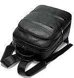 Рюкзак Vintage 14696 кожаный Черный, Черный, фото 5